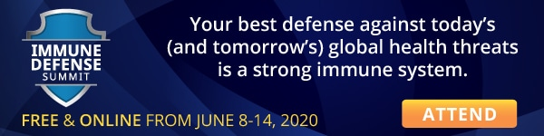"""Banner """"Attend Immune Defense Summit"""""""